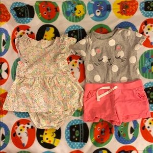 Carter's Romper and Shorts Bundle